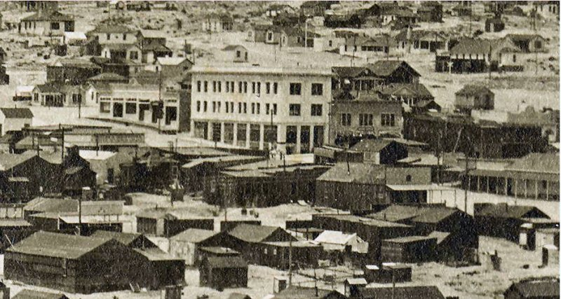 Downtown Rhyolite in 1909