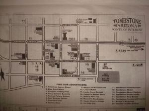 walking map of Tombstone