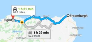 Fraserburgh to Elgin