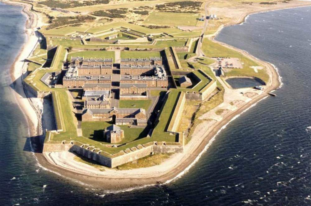 aerial of Fort George