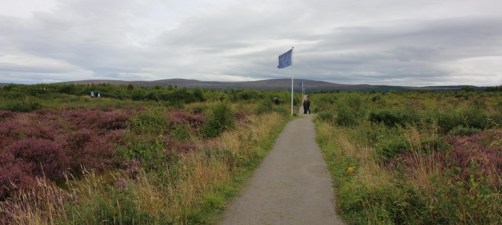 blue flag at Culloden